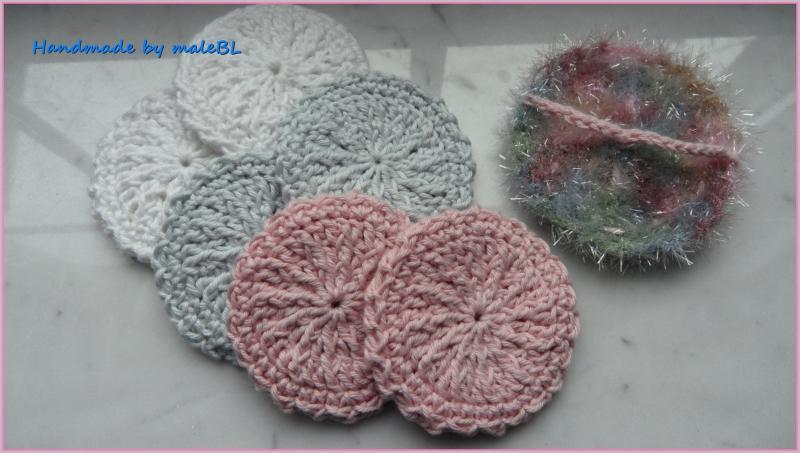 Kleinesbild - Peelingpad, Kosmetikpad fürs Gesicht, rosa, grün, blau