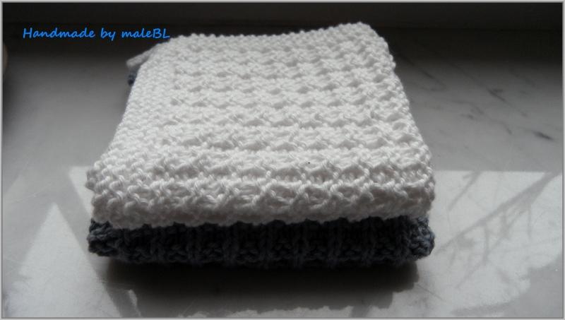 Kleinesbild - Waschlappen, Seifentuch, handgestrickt aus Baumwolle, Farbe nach Wahl