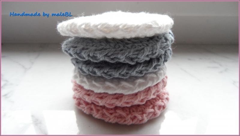 Kleinesbild -  Seifensäckchen, Seifenbeutel mit Peelingpad in Rosa