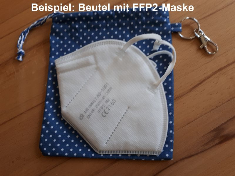 Kleinesbild - Maskentasche / Maskenbeutel Einhörner & Regenbogen für medizinische Masken (auch FFP2)