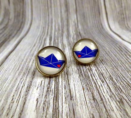 - Maritime Ohrstecker Ohrringe Anker Boot - Maritime Ohrstecker Ohrringe Anker Boot
