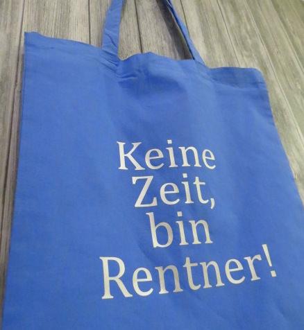 fbe574a3ceddc Beutel Rentner Spruch Stoffbeutel Jutebeutel Spruch Rente Tasche Oma Opa