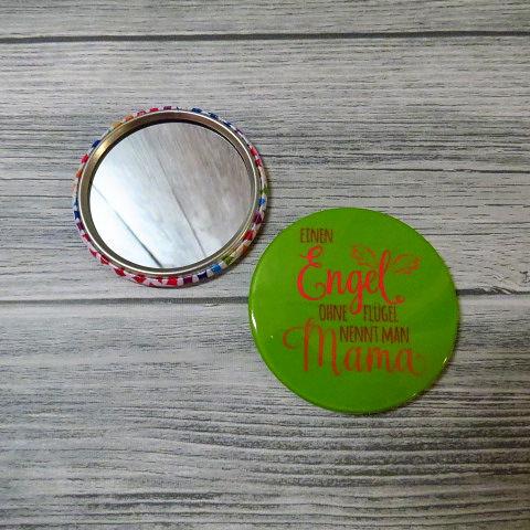 Kleinesbild - Taschenspiegel Kosmetikspiegel Spiegel Mama Engel