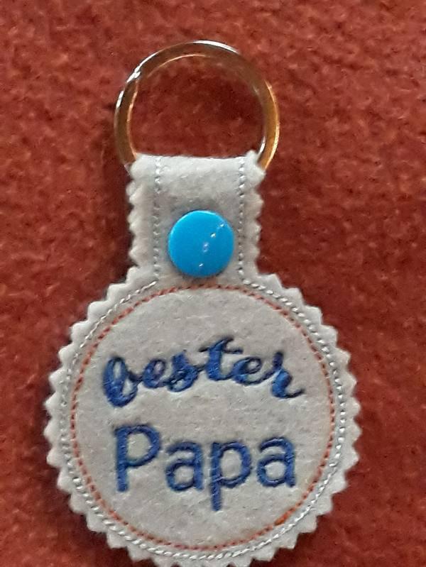 Kleinesbild - Schlüsselanhänger,  Taschenbaumler, Filz, bester Papa