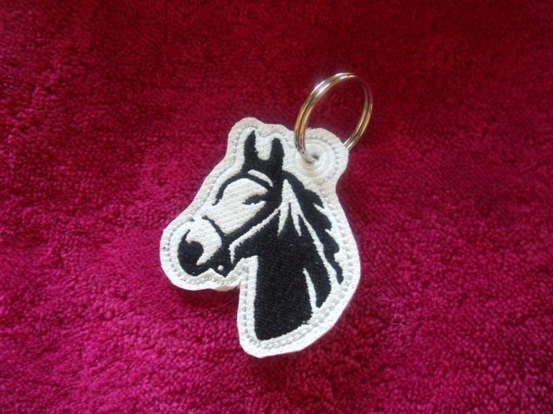 - Schlüsselanhänger,  Taschenbaumler, Kunstleder,  Pferd, Pferdekopf - Schlüsselanhänger,  Taschenbaumler, Kunstleder,  Pferd, Pferdekopf