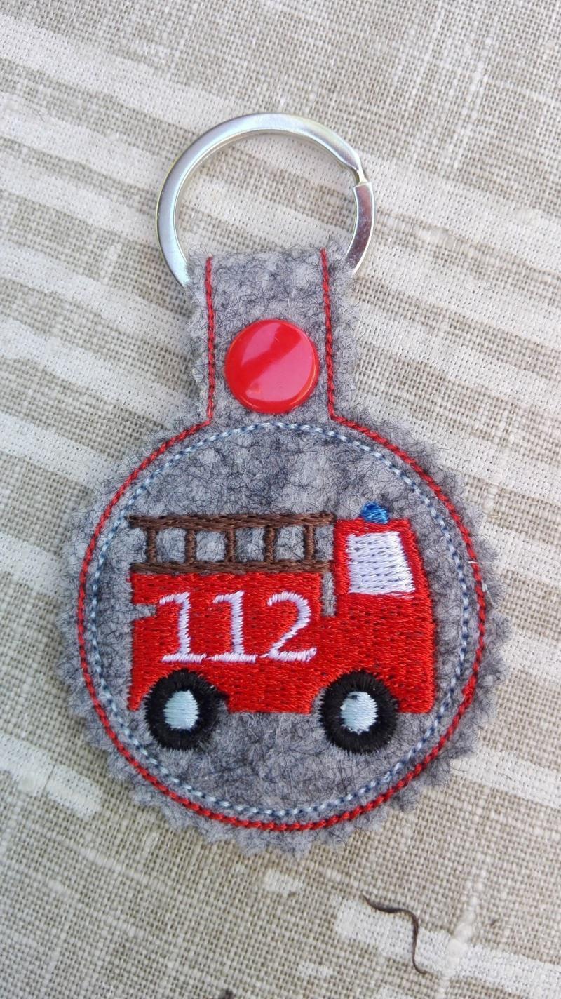 - Schlüsselanhänger,  Taschenbaumler, Filz, Feuerwehr - Schlüsselanhänger,  Taschenbaumler, Filz, Feuerwehr