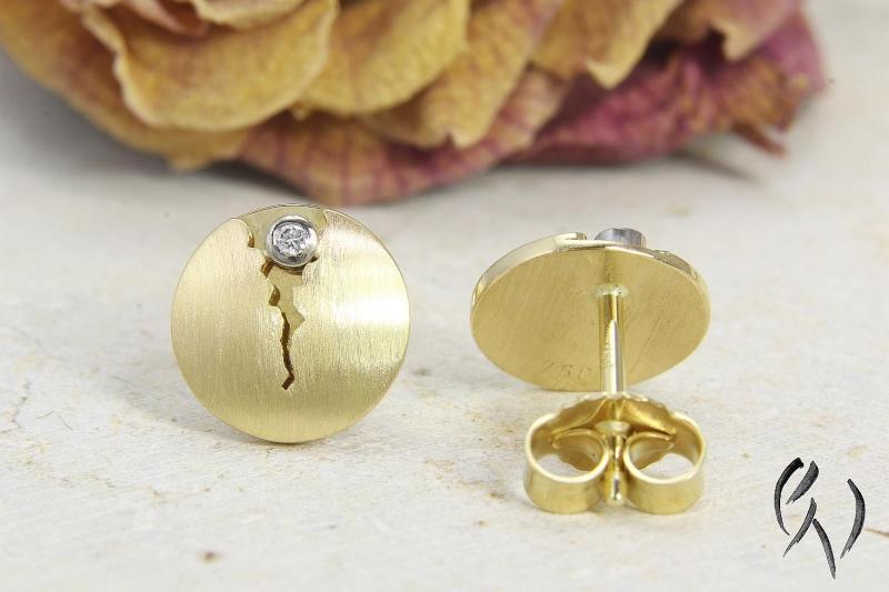 Kleinesbild - Ohrstecker Gold 750/- mit Brillant