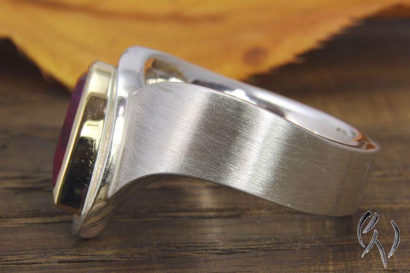Kleinesbild - Ring Silber 925/- mit synthetischem Spinell