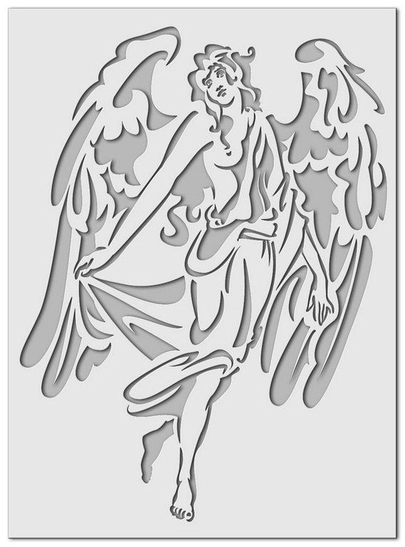 Kleinesbild - Schablone Engel, 44 x 60 cm
