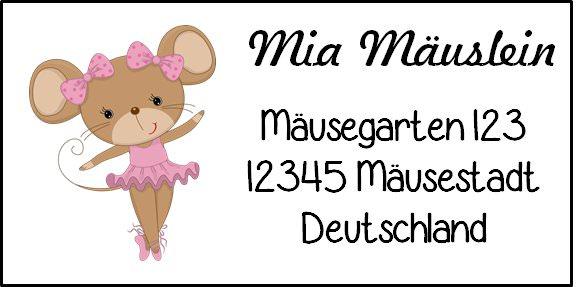 - 40 Adressaufkleber mit Wunschadresse  Mäuse - auch als Schulaufkleber oder Namensaufkleber möglich - 40 Adressaufkleber mit Wunschadresse  Mäuse - auch als Schulaufkleber oder Namensaufkleber möglich