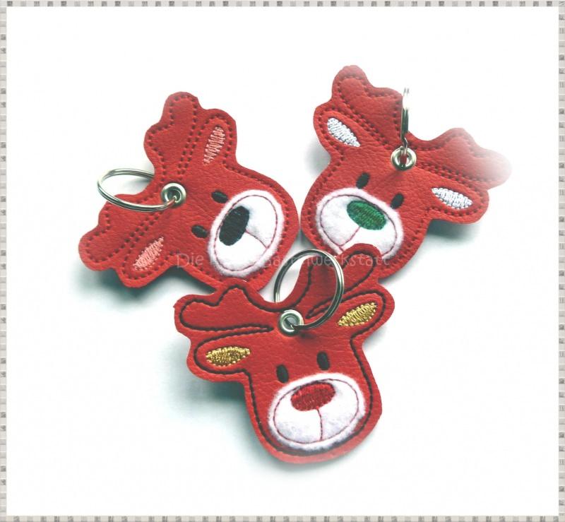 - Schlüsselanhänger ♥ Elch ♥ Renntier ♥ Anhänger ♥ Kunstleder Anhänger  - Schlüsselanhänger ♥ Elch ♥ Renntier ♥ Anhänger ♥ Kunstleder Anhänger