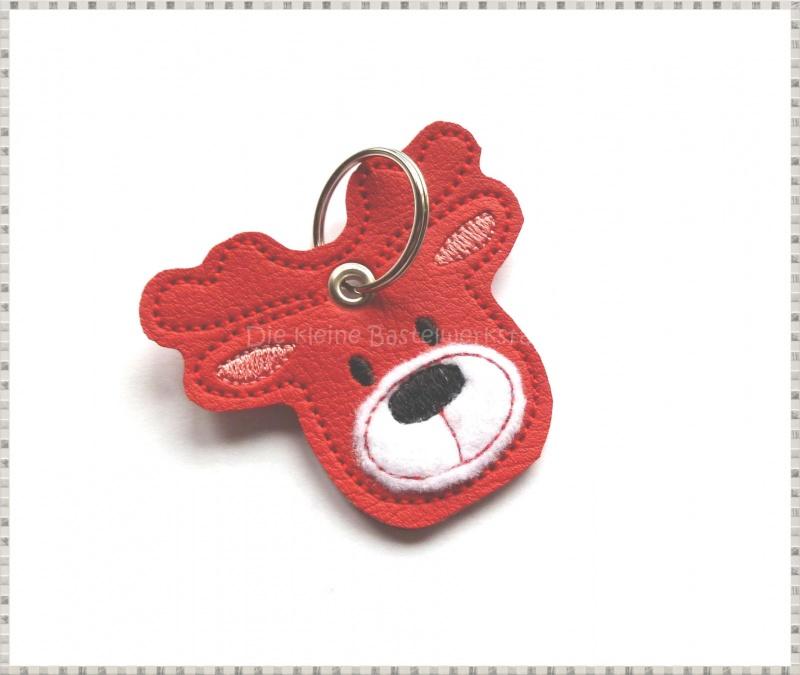 Kleinesbild - Schlüsselanhänger ♥ Elch ♥ Renntier ♥ Anhänger ♥ Kunstleder Anhänger