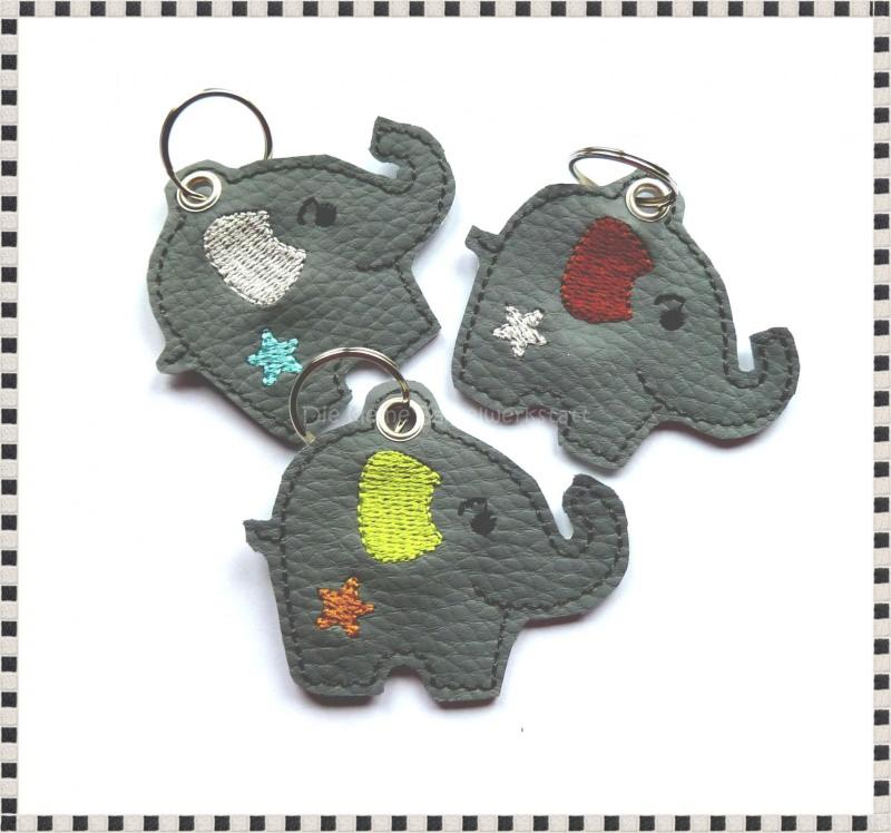 - Schlüsselanhänger ♥  Elefant ♥ Anhänger ♥ Elefanten-Anhänger ♥ Kunstleder Anhänger   - Schlüsselanhänger ♥  Elefant ♥ Anhänger ♥ Elefanten-Anhänger ♥ Kunstleder Anhänger