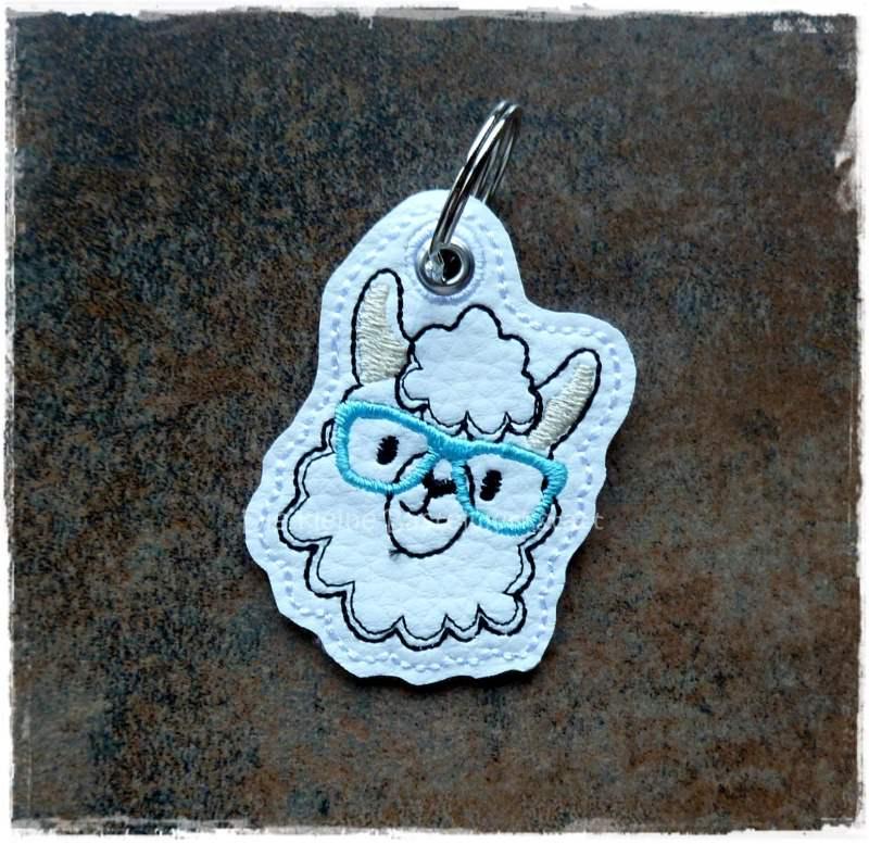 Kleinesbild - Schlüsselanhänger ♥  Lama ♥ Anhänger ♥ Lama-Anhänger ♥ Kunstleder Anhänger