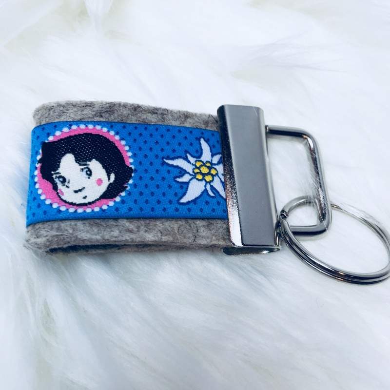 - Schlüsselanhänger aus Filz mit Heidi - Schlüsselanhänger aus Filz mit Heidi