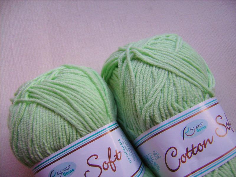 Kleinesbild - Strickgarn Cotton soft Fb. 31, grün, Baumwolle-mischgarn, Nadelstärke 3-4