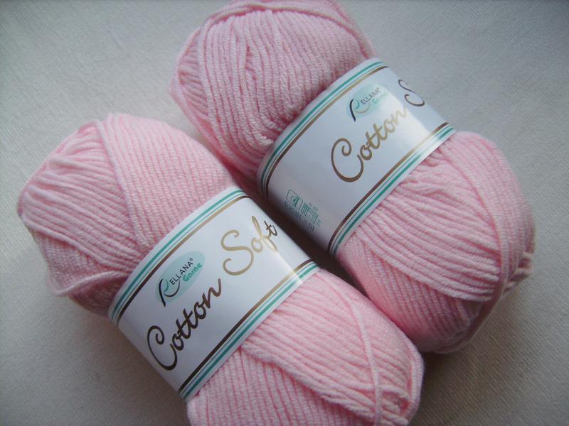 - Strickgarn Cotton soft Fb.  10, rosa, Baumwolle-mischgarn, Nadelstärke 3-4           - Strickgarn Cotton soft Fb.  10, rosa, Baumwolle-mischgarn, Nadelstärke 3-4