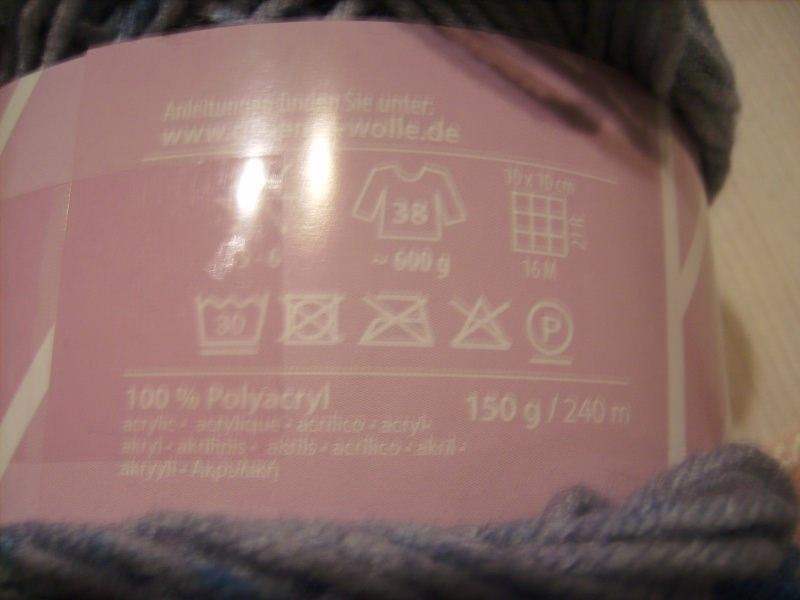 Kleinesbild - Strickgarn Lolly Pop Fb. 13, blau-grau, farbverlaufend, Nadelstärke 5-6