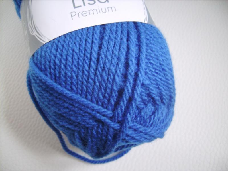 Kleinesbild - günstiges Strickgarn, Lisa premium Fb. 35, royalblau, Nadelstärke 3-4, Polyacryl,