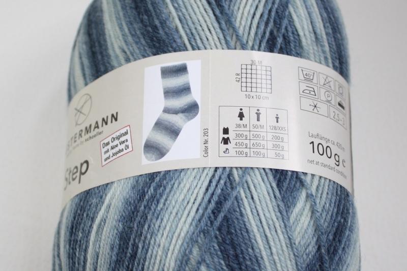 Kleinesbild - Sockenwolle Austermann Step 4 Holiday Fb. 203, farbverlaufend, musterbildend, 4-fach, EXP