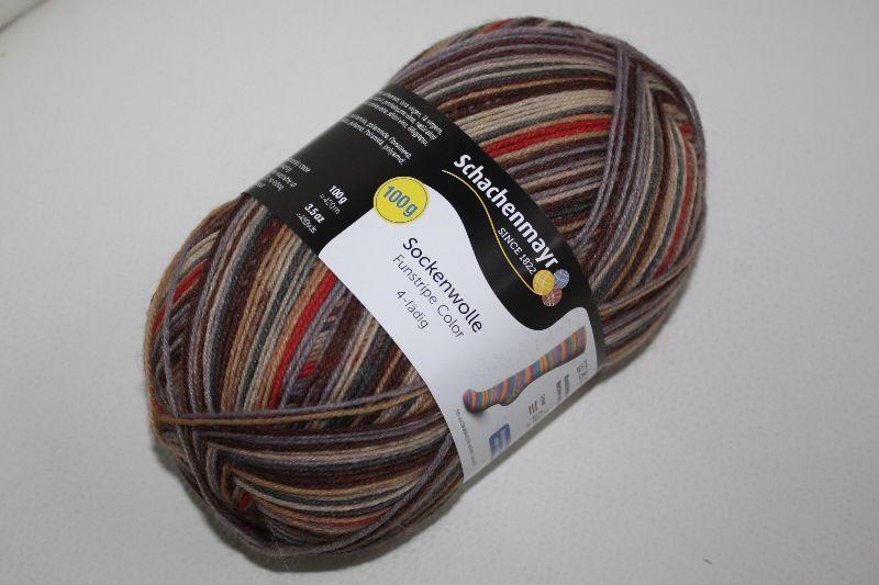 - Sockenwolle  Schachenmayr  Fun stripe color Fb. 3730, streifenbildend, 4-fach - Sockenwolle  Schachenmayr  Fun stripe color Fb. 3730, streifenbildend, 4-fach