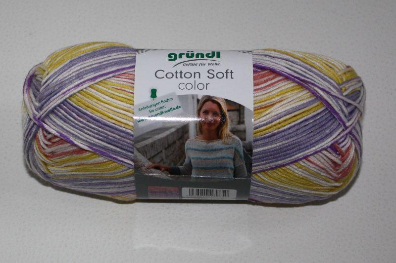 Kleinesbild -  Baumwolle-Mischgarn Cotton soft color Fb. 2, langrapportiger Farbverlauf