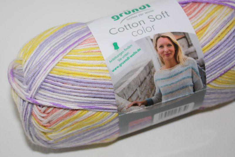 -  Baumwolle-Mischgarn Cotton soft color Fb. 2, langrapportiger Farbverlauf -  Baumwolle-Mischgarn Cotton soft color Fb. 2, langrapportiger Farbverlauf