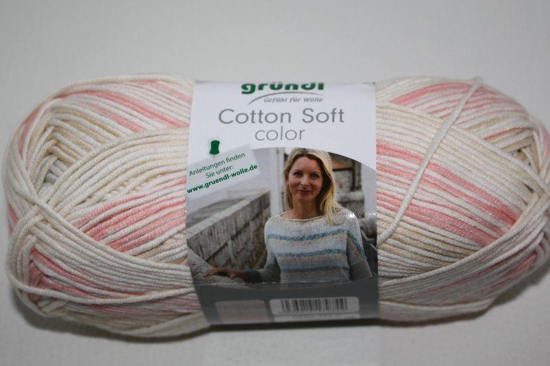 -  Baumwolle-Mischgarn Cotton soft color Fb. 5, langrapportiger Farbverlauf  -  Baumwolle-Mischgarn Cotton soft color Fb. 5, langrapportiger Farbverlauf