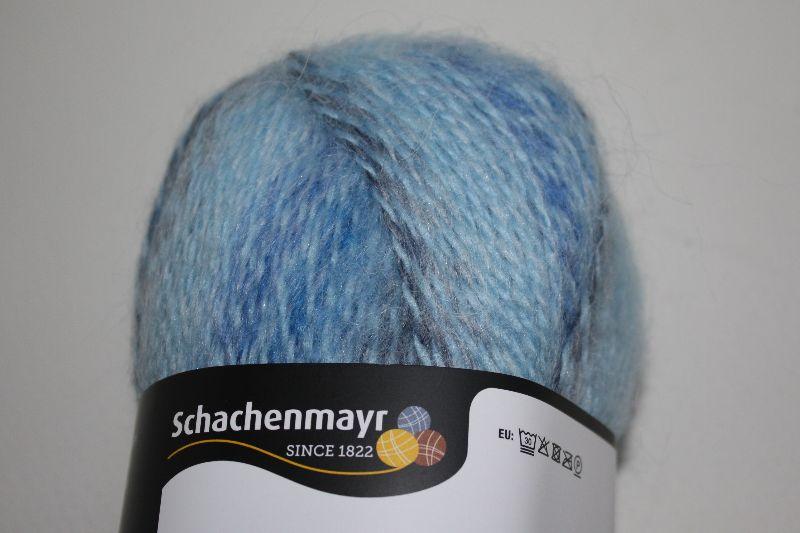 Kleinesbild - Strickgarn Schachenmayr Mohair soft, hellblau, farbverlaufend, Wollgemisch