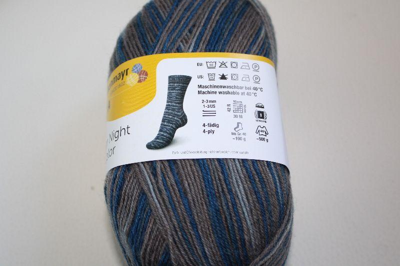 Kleinesbild - Sockenwolle  Schachenmayr  Regia Polar Night color Fb. 9016, streifenbildend, 4-fach
