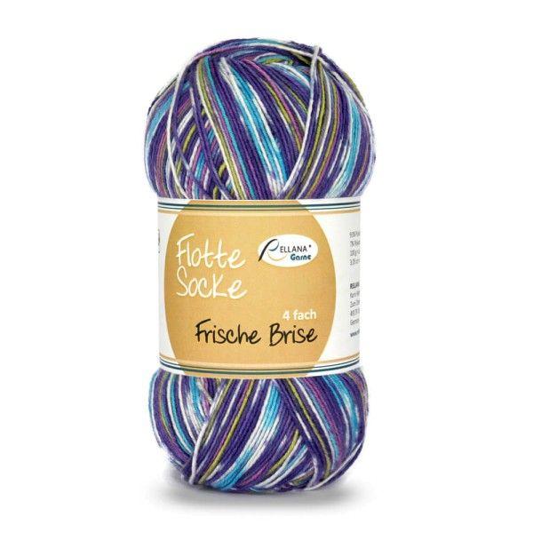 - Sockenwolle Flotte Socke Frische Brise Fb. 1442, 4-fädig, musterbildend                 - Sockenwolle Flotte Socke Frische Brise Fb. 1442, 4-fädig, musterbildend