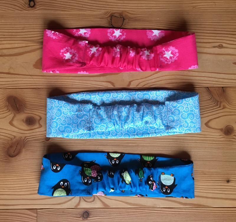 Kleinesbild - Haarband in türkis für kleine Mädchen