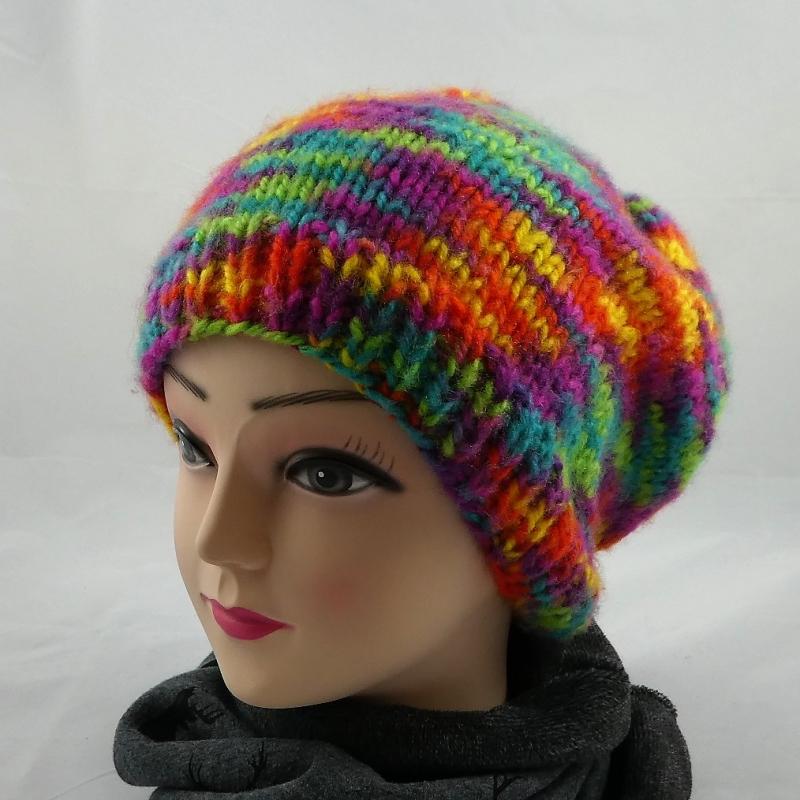 Kleinesbild - Bunte Mütze, weich, flauschig und kuschelig