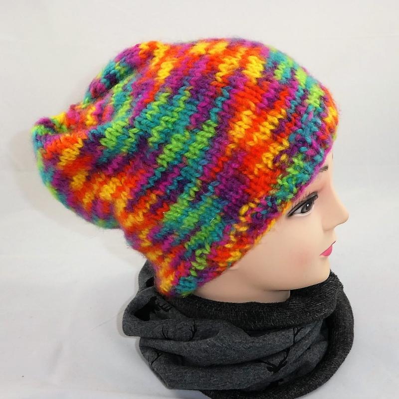- Bunte Mütze, weich, flauschig und kuschelig - Bunte Mütze, weich, flauschig und kuschelig
