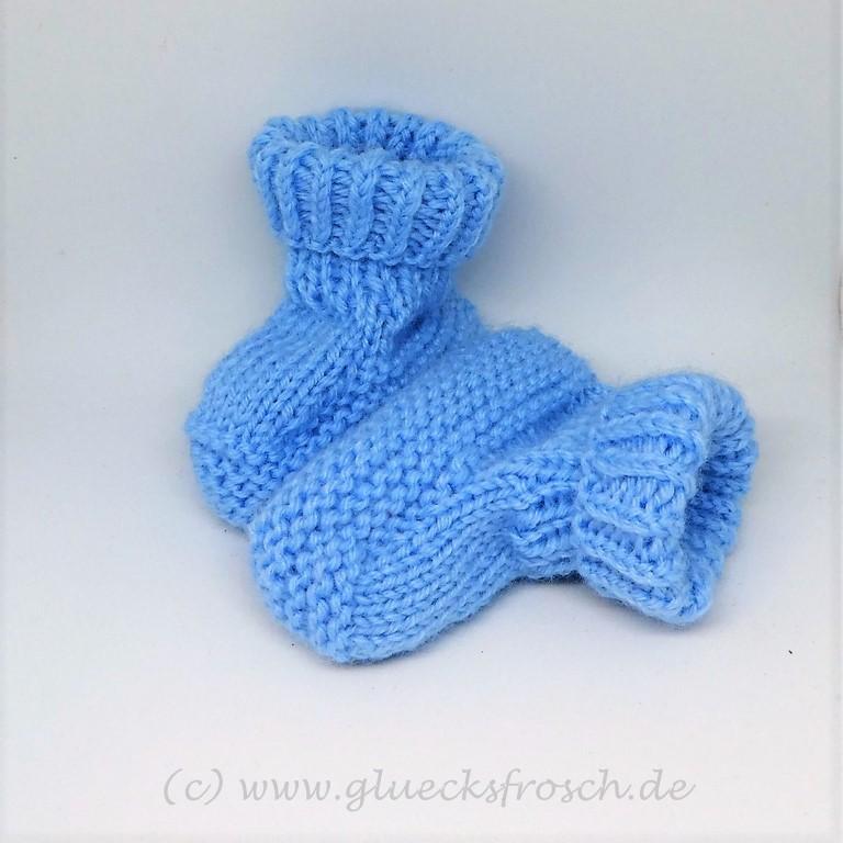 Kleinesbild - Babyschuhe superweich und hellblau