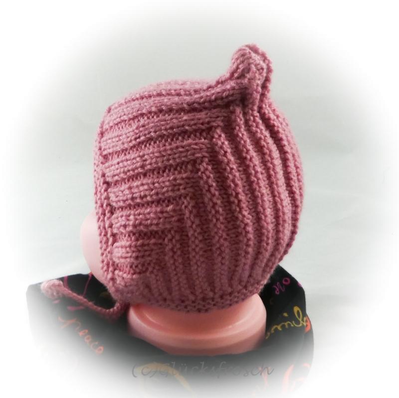 - Zwergenmütze, Babymütze für ein Neugeborenes in altrosa - Zwergenmütze, Babymütze für ein Neugeborenes in altrosa