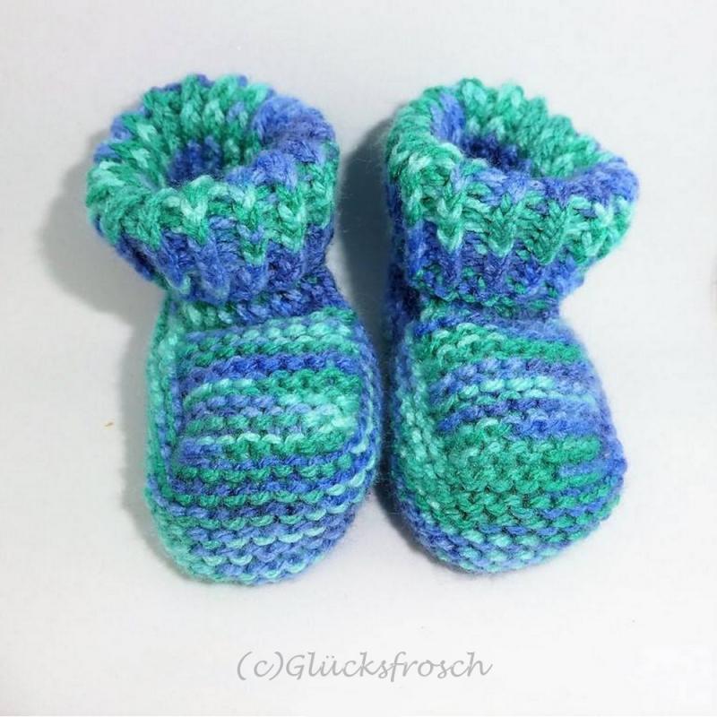 Kleinesbild - Babyschuhe, blau, grün, hellblau, superweich