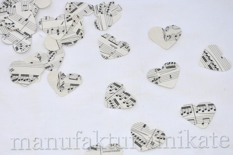 Anlässe 200 X Handgestanzte Herzen Aus Notenpapier Alte Noten