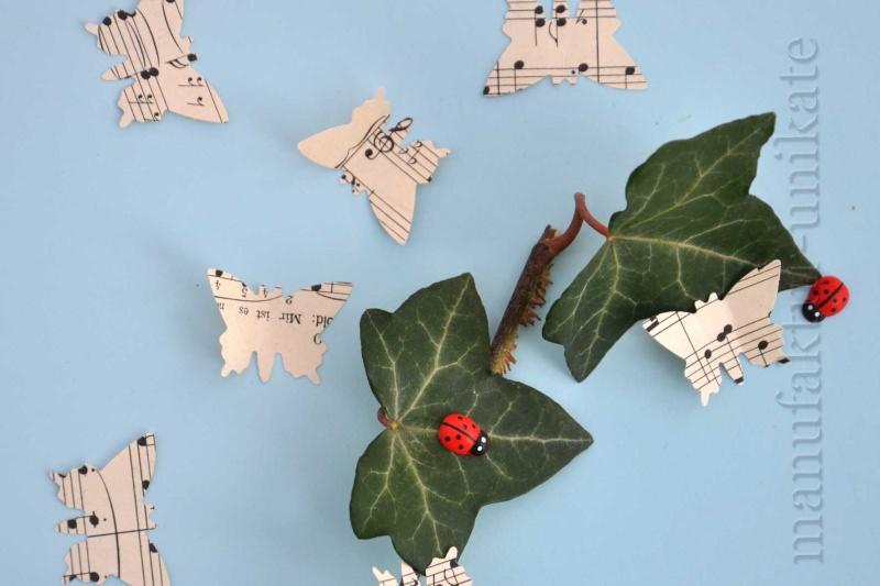 Anlässe 200 X Handgestanzte Schmetterlinge Aus Notenpapier Alte