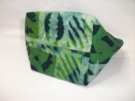 Kleinesbild - Kleine genähte Tasche aus afrikanischem Batikstoff in Grüntönen