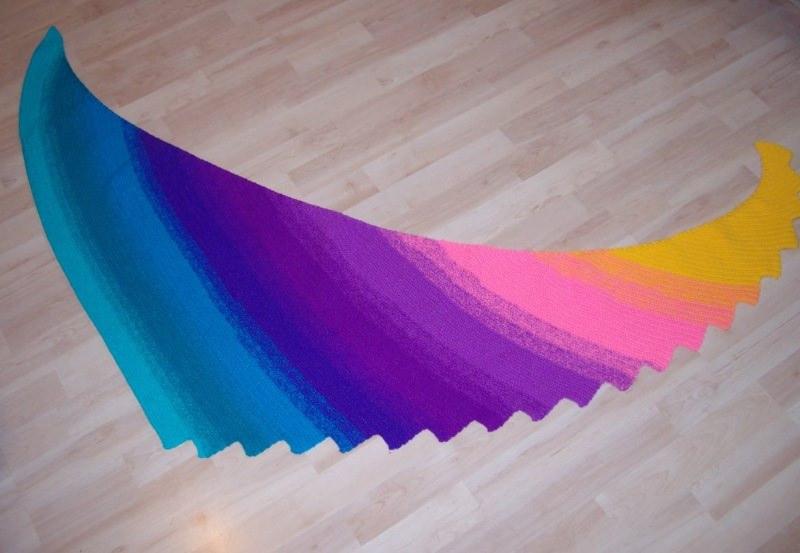 Kleinesbild - Drachenschwanz/ Drachenschal schön bunt, leuchtende Farben