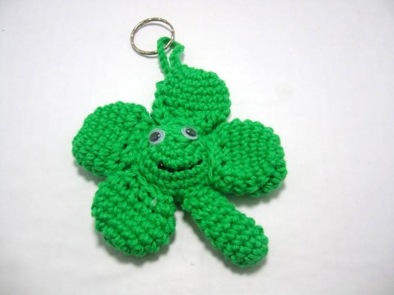 - Schlüsselanhänger Kleeblatt, Glücksbringer, niedlich - Schlüsselanhänger Kleeblatt, Glücksbringer, niedlich