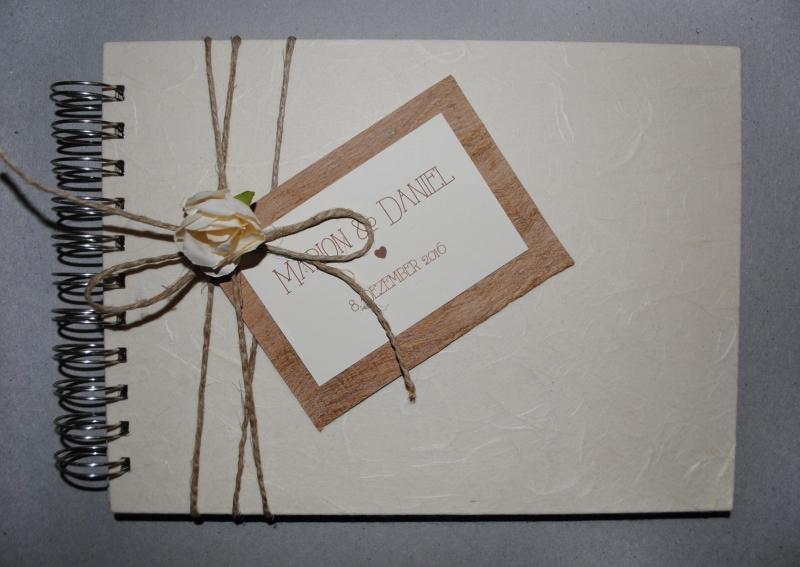 Anlasse Gastebuch Hochzeit Vintage Mit Papierblute