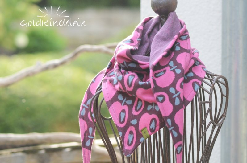 Kleinesbild - ♥ gemütliches Kuscheltuch mit süßen lila Birnen ♥