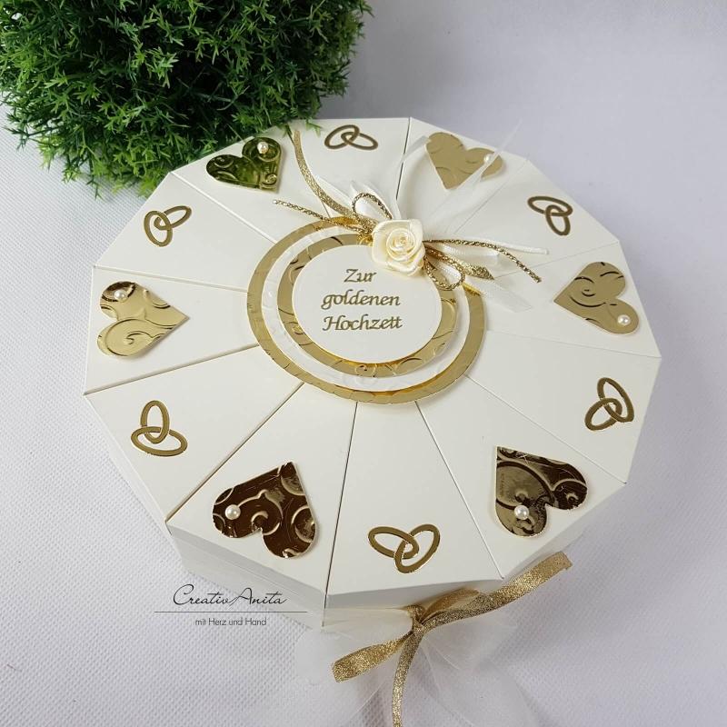 Schachteltorte Zur Goldenen Hochzeit Geldgeschenk Edle Geschenkverpackung