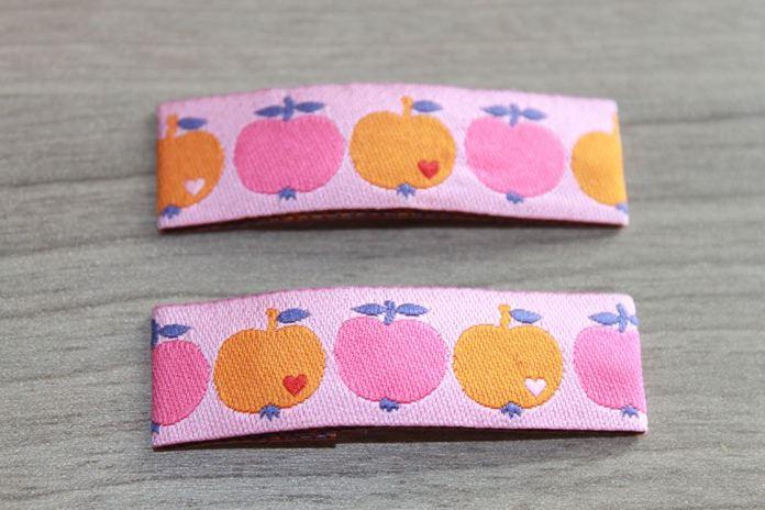 - Haarspangenset 2 Stück Haarspangen Apfel, Äpfelchen, rosa, orange - Haarspangenset 2 Stück Haarspangen Apfel, Äpfelchen, rosa, orange