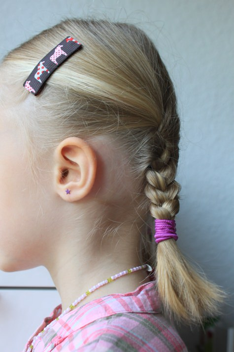 Kleinesbild - Haarspangenset 2 Stück Haarspangen Dala Pferde, Pferde, lila, blau, braun