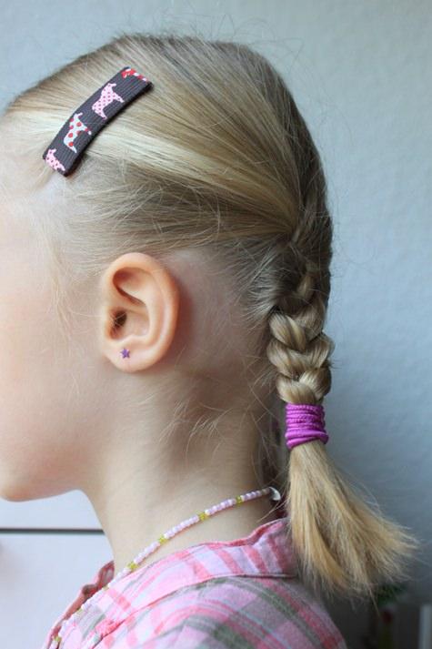 Kleinesbild - Haarspangenset 2 Stück Haarspangen Flower Love Herzchen rosa