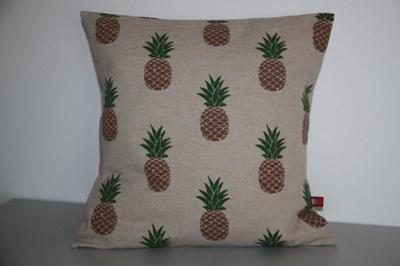 - Kissenhülle Ananas natur passend für 40x40cm  - Kissenhülle Ananas natur passend für 40x40cm