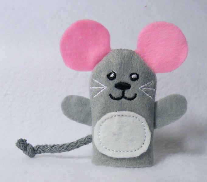 Kleinesbild - Fingerpuppe Maus